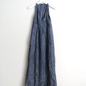 Cabi  100% Linen #995 Chambray Dress